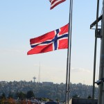Norwegian Flag & Spaceneedle